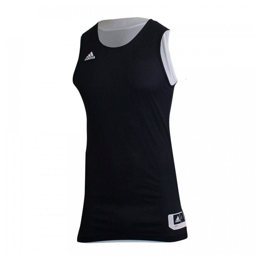 Camiseta Regata Adidas Treino Reversível Preto