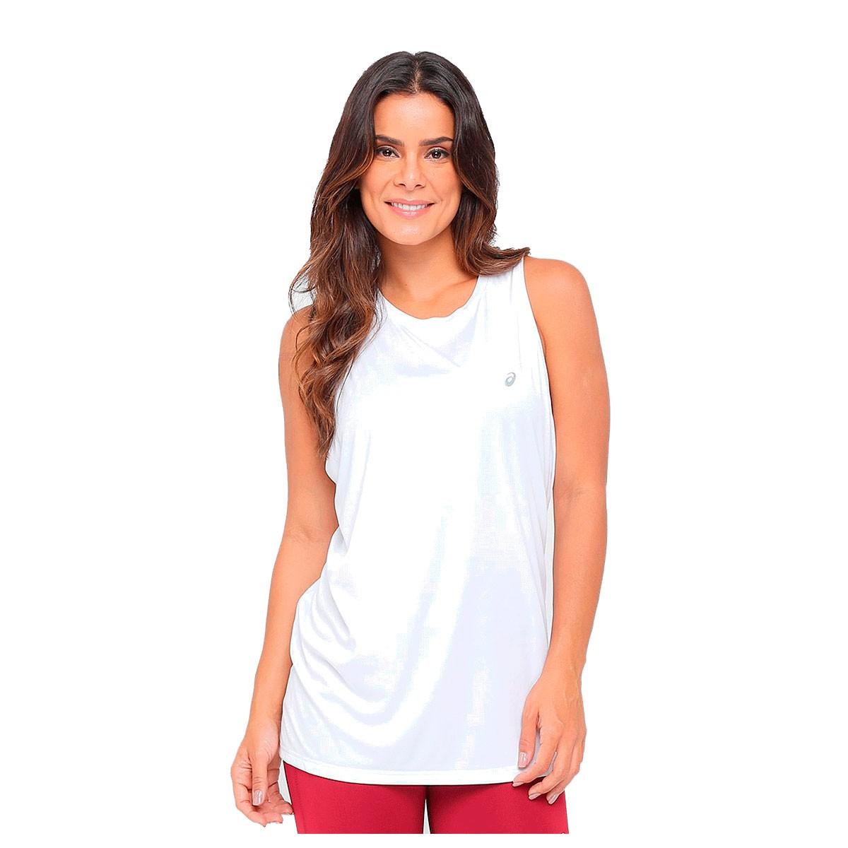 Camiseta Regata Asics Core Pes Feminina Branca