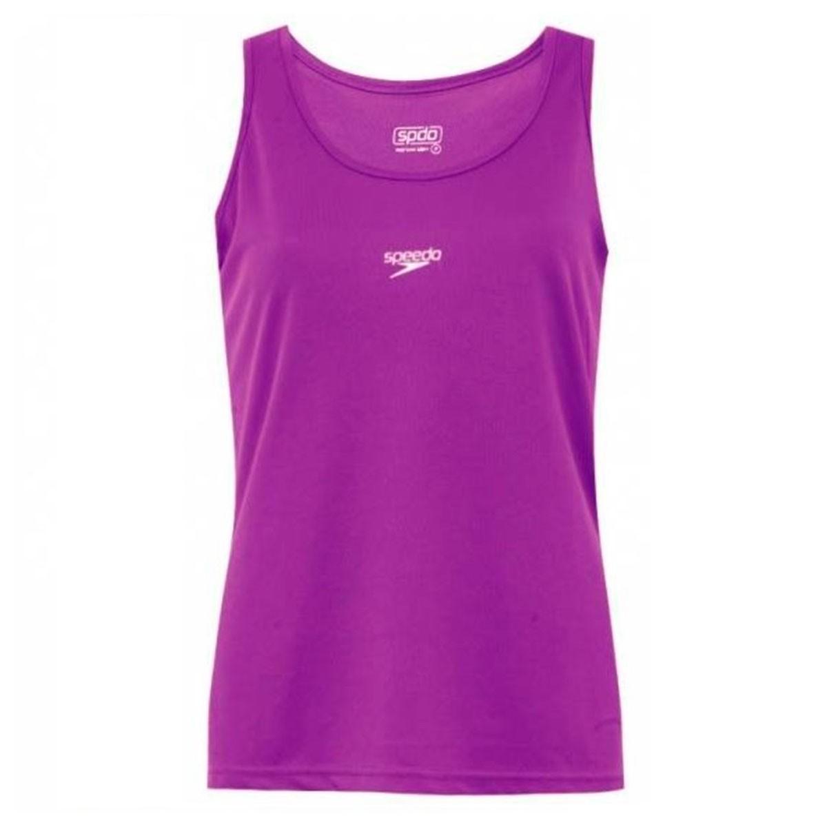 Camiseta Regata Speedo Longa Mulberry Feminino Roxo