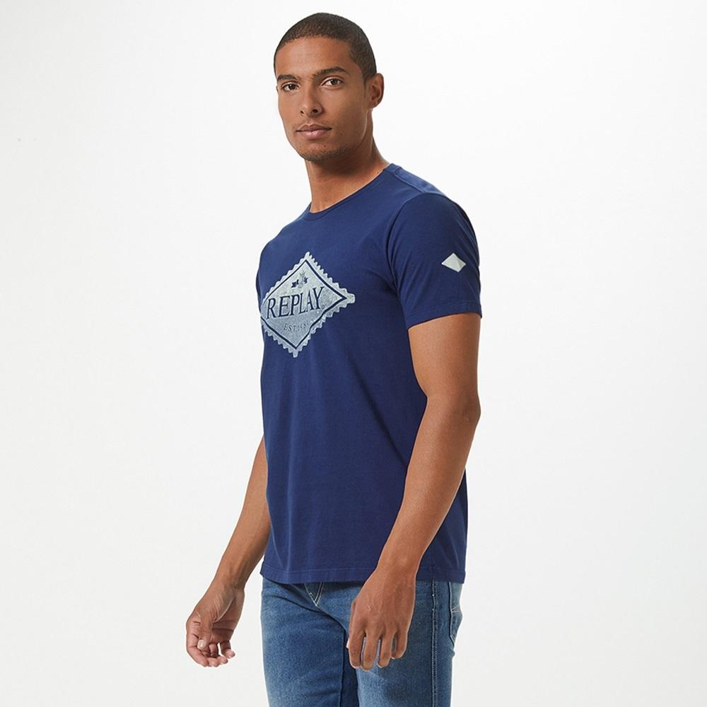 Camiseta Replay Losango Masculino Marinho