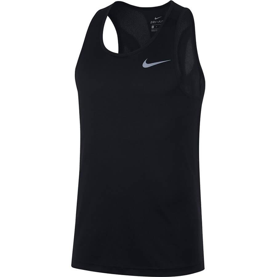 Camiseta Sem Manga Nike Breathe Run Tank Masculina Preto