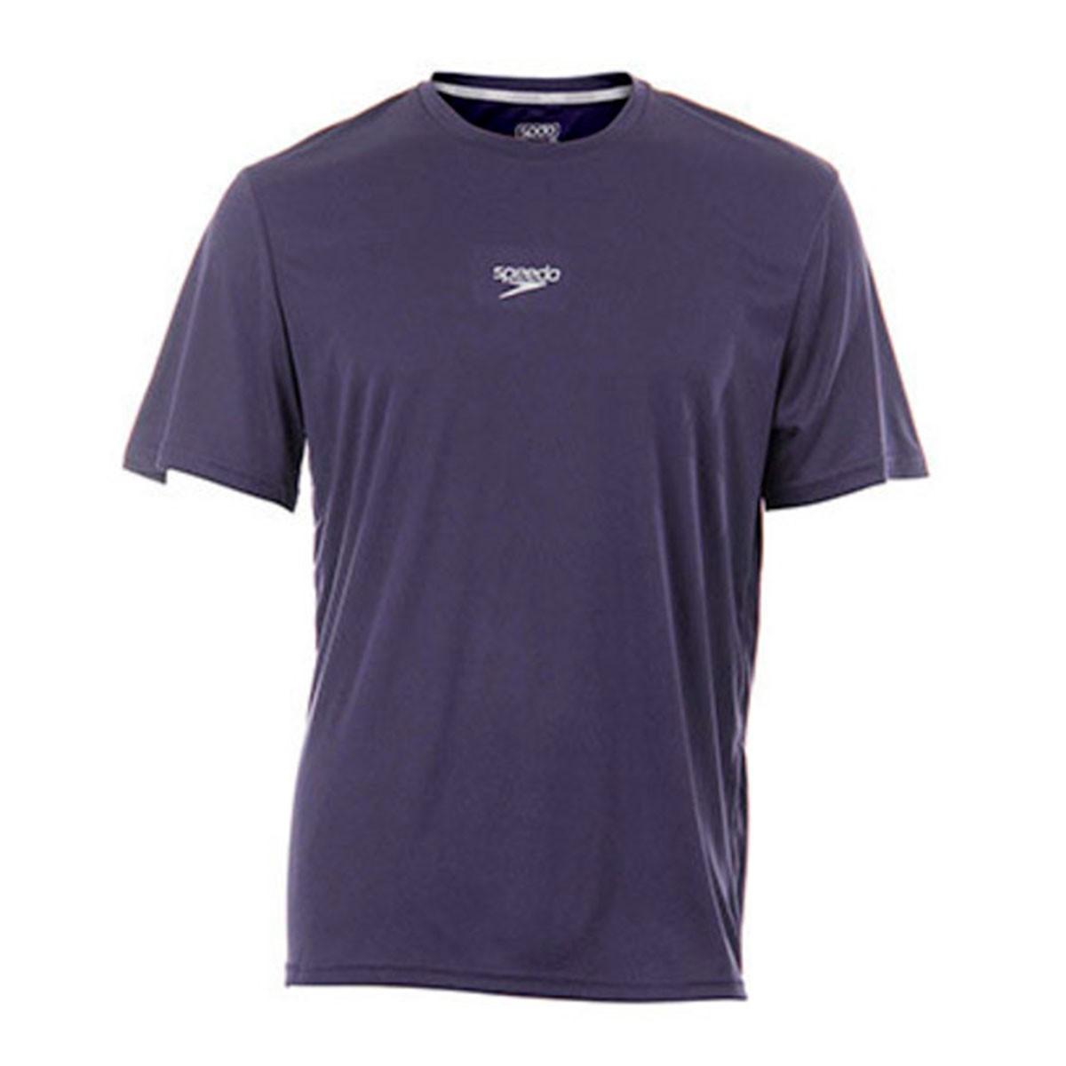 Camiseta Speedo Basic Interlock UV 50 Masculino Azul