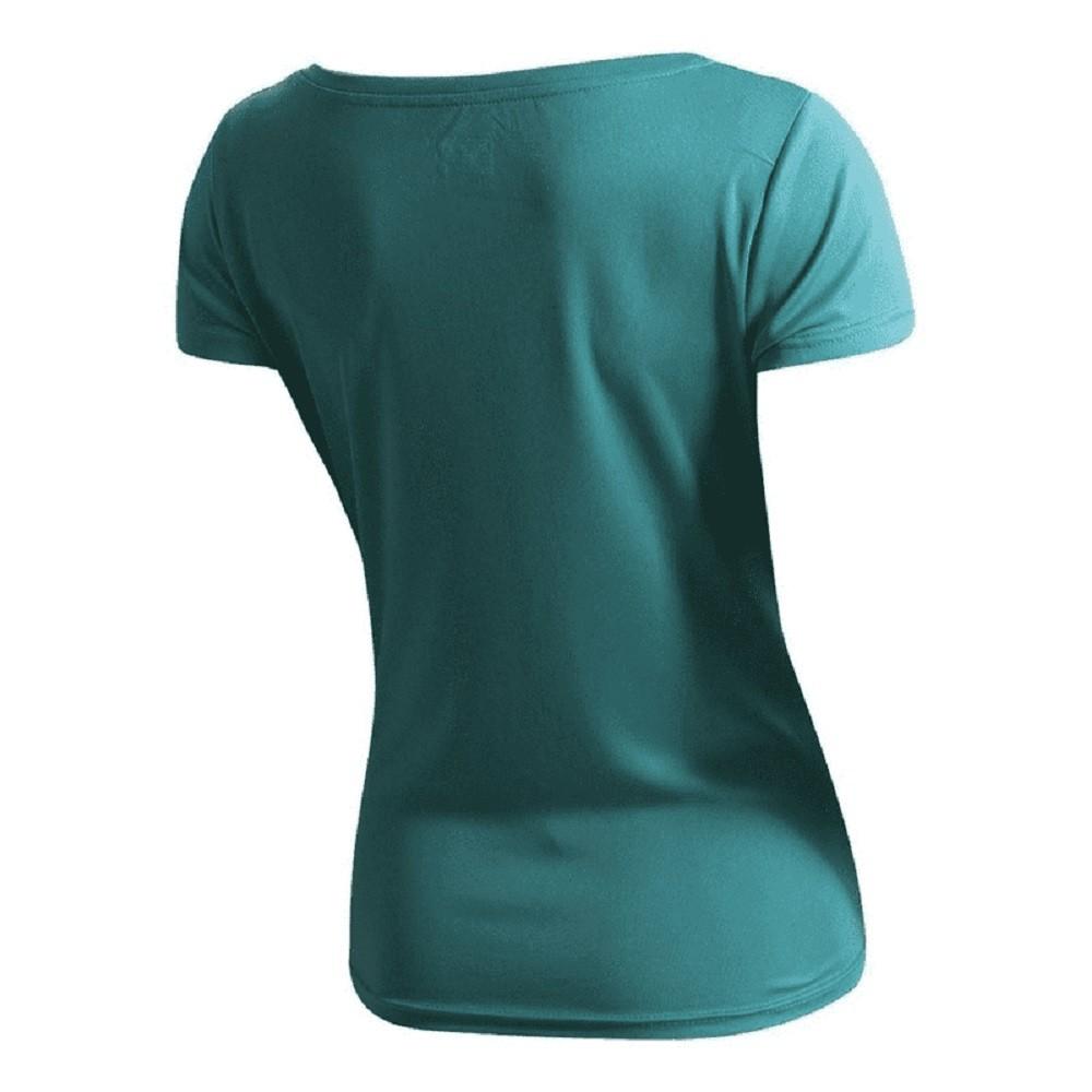 Camiseta Speedo Interlock Canoa Azul Piscina