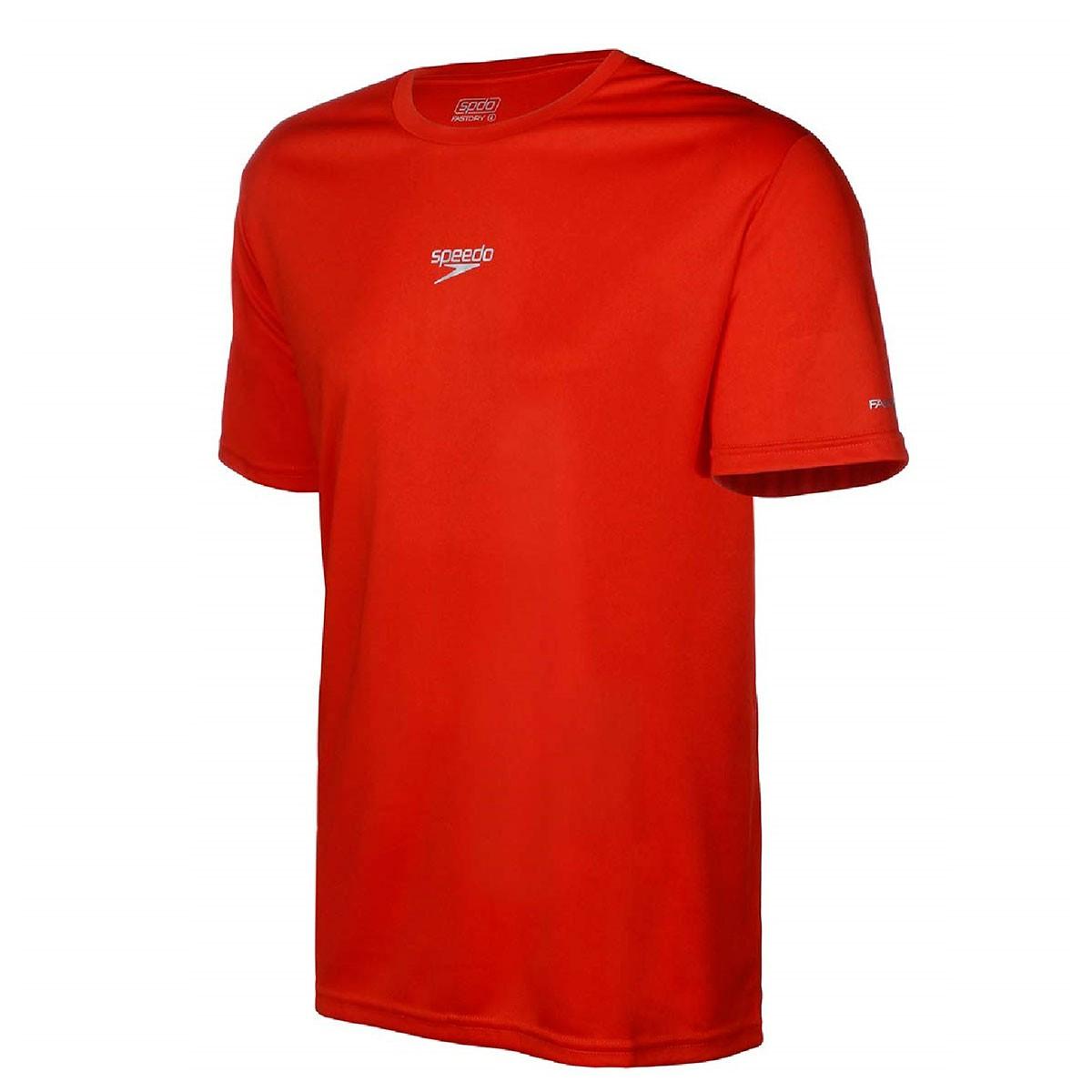 Camiseta Speedo Interlock Canoa Vermelho Feminino