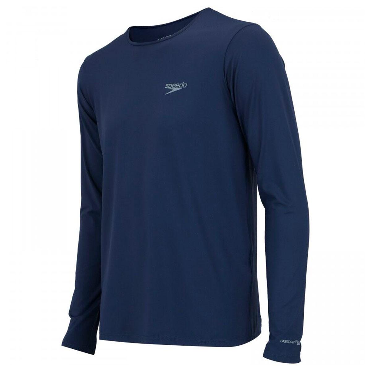 Camiseta Speedo UV Protection ML Masculino Marinho