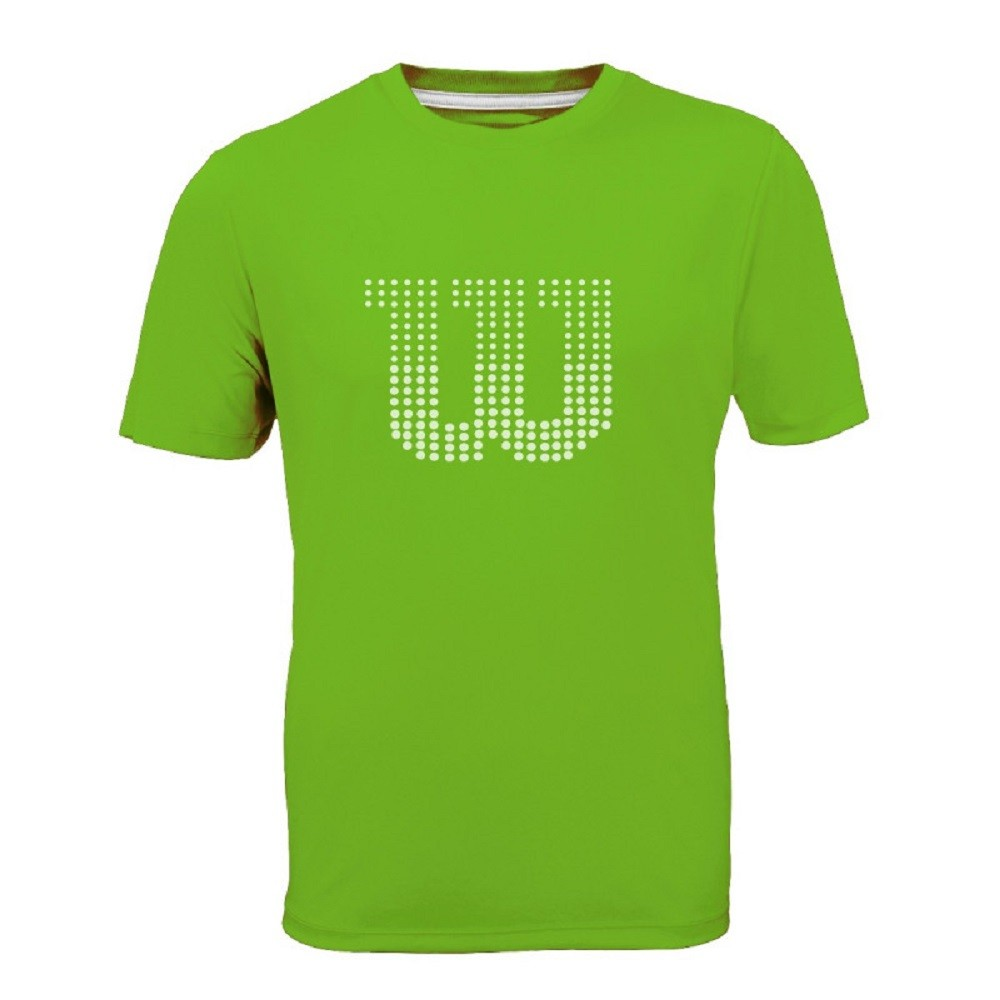 Camiseta Wilson Clay Masculino Verde Branca