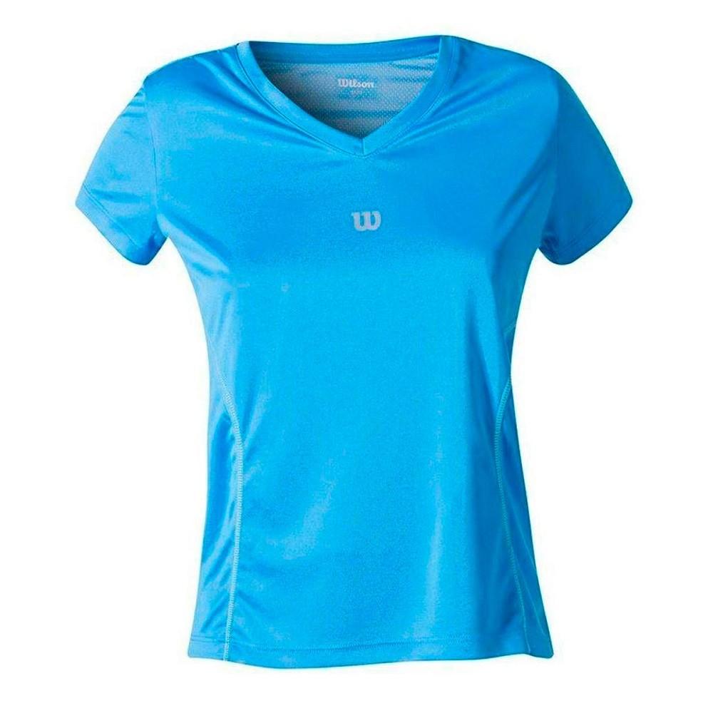 Camiseta Wilson Performance II SS Feminina Azul Claro