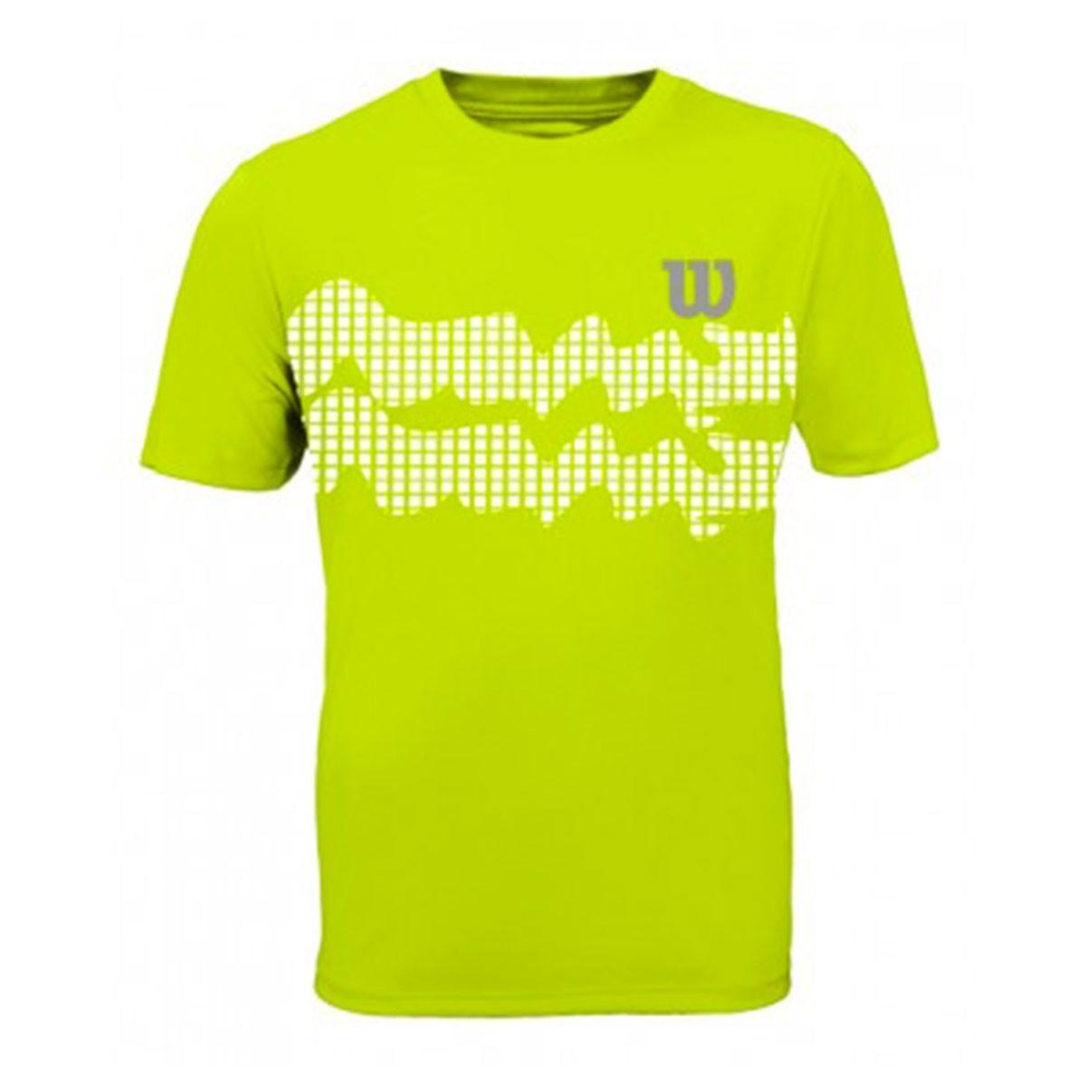 Camiseta Wilson Wave Performance III Verde Limão