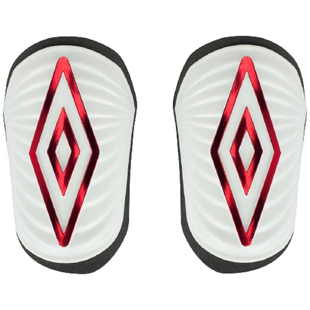 Caneleira de Futebol Umbro Diamond SS Branco Vermelho