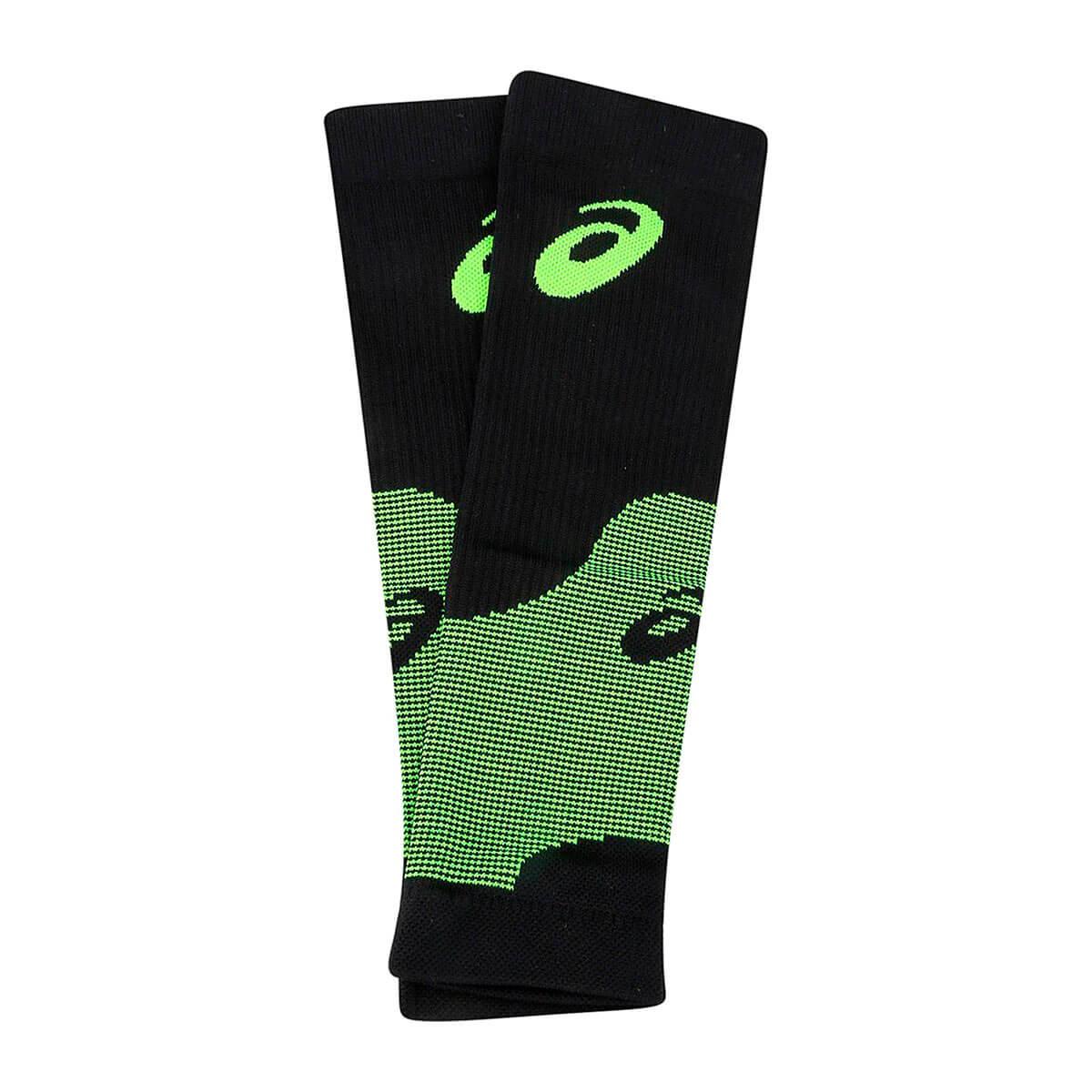 Canelito de Compressão Asics Leg Sleeves Preto Verde