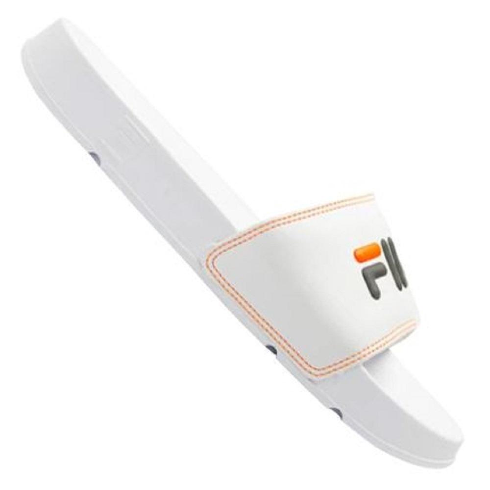 Chinelo Fila Slide Drifter Basic Masculino Branco Preto
