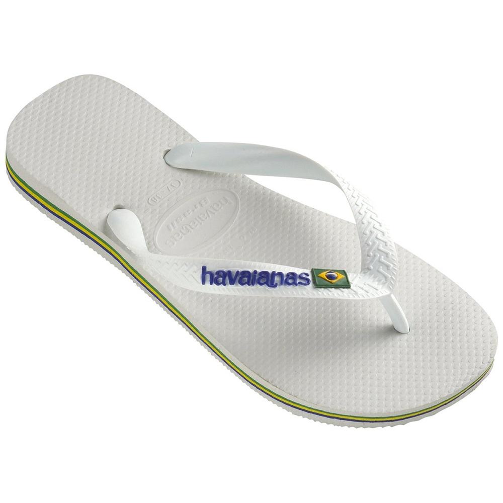 Chinelo Havaianas Brasil Logo Branco
