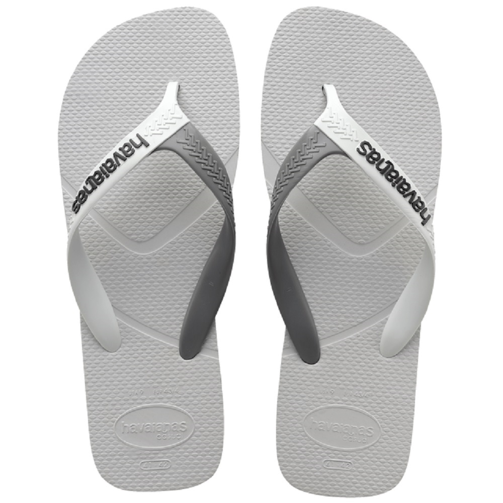 Chinelo Havaianas Casual Masculino Branco Cinza