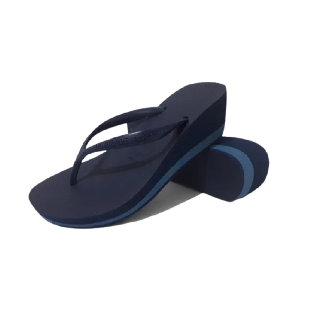 Chinelo Havaianas High Fashion Tamanco Feminino Marinho Azul