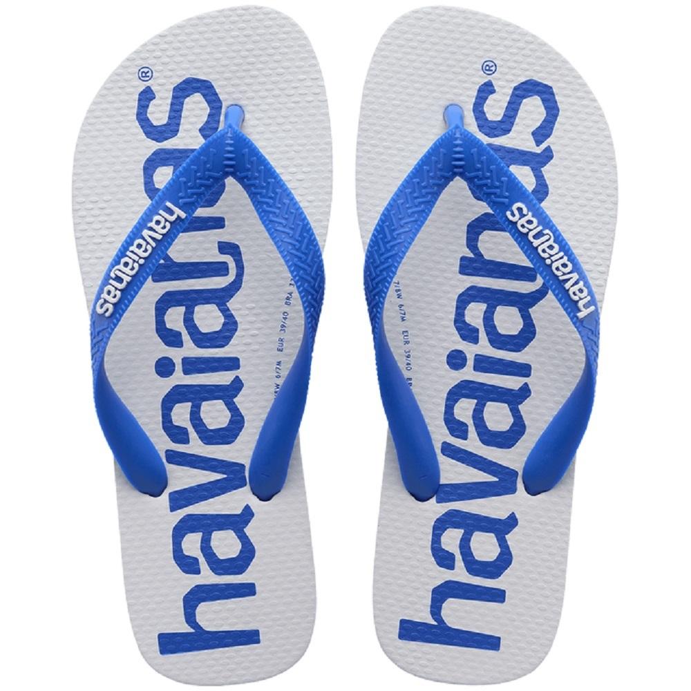 Chinelo Havaianas Top Logomania II Branco Azul