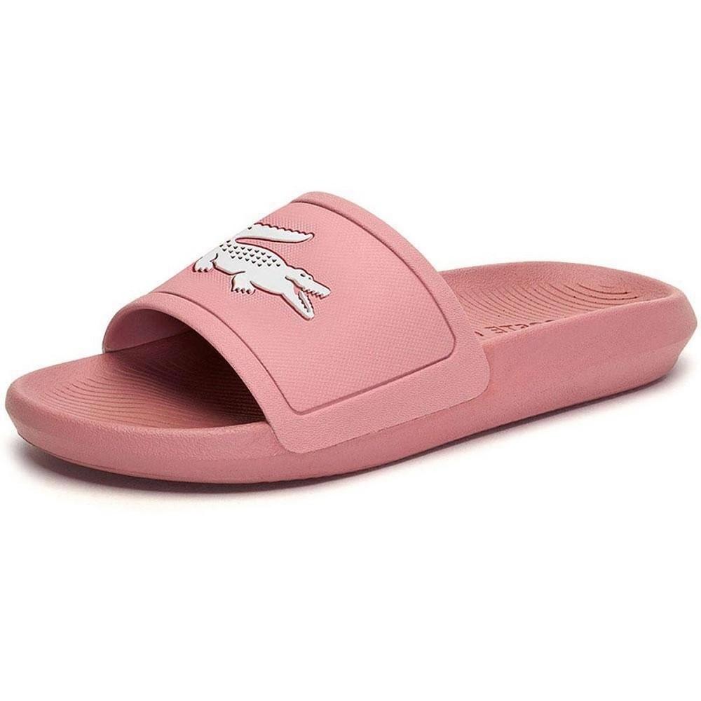 Chinelo Lacoste Croco Slide Feminino Rosa