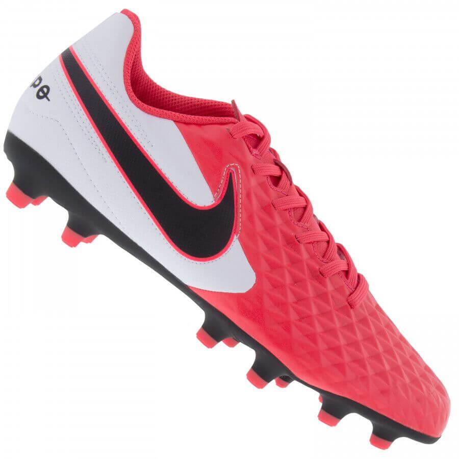 Chuteira Campo Nike Tiempo Legend 8 Branco Rosa