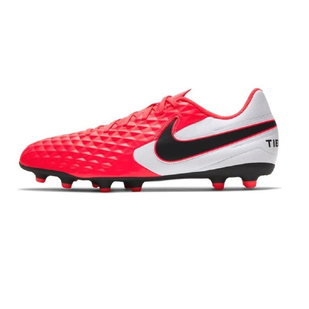 Chuteira Campo Nike Tiempo Legend 8 Club Masculino Vermelho Branco