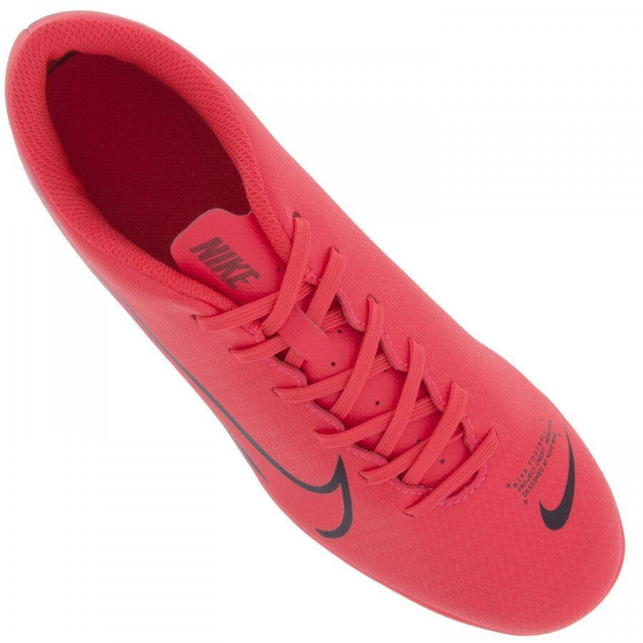 Chuteira Campo Nike Vapor 13 Club Rosa Neon