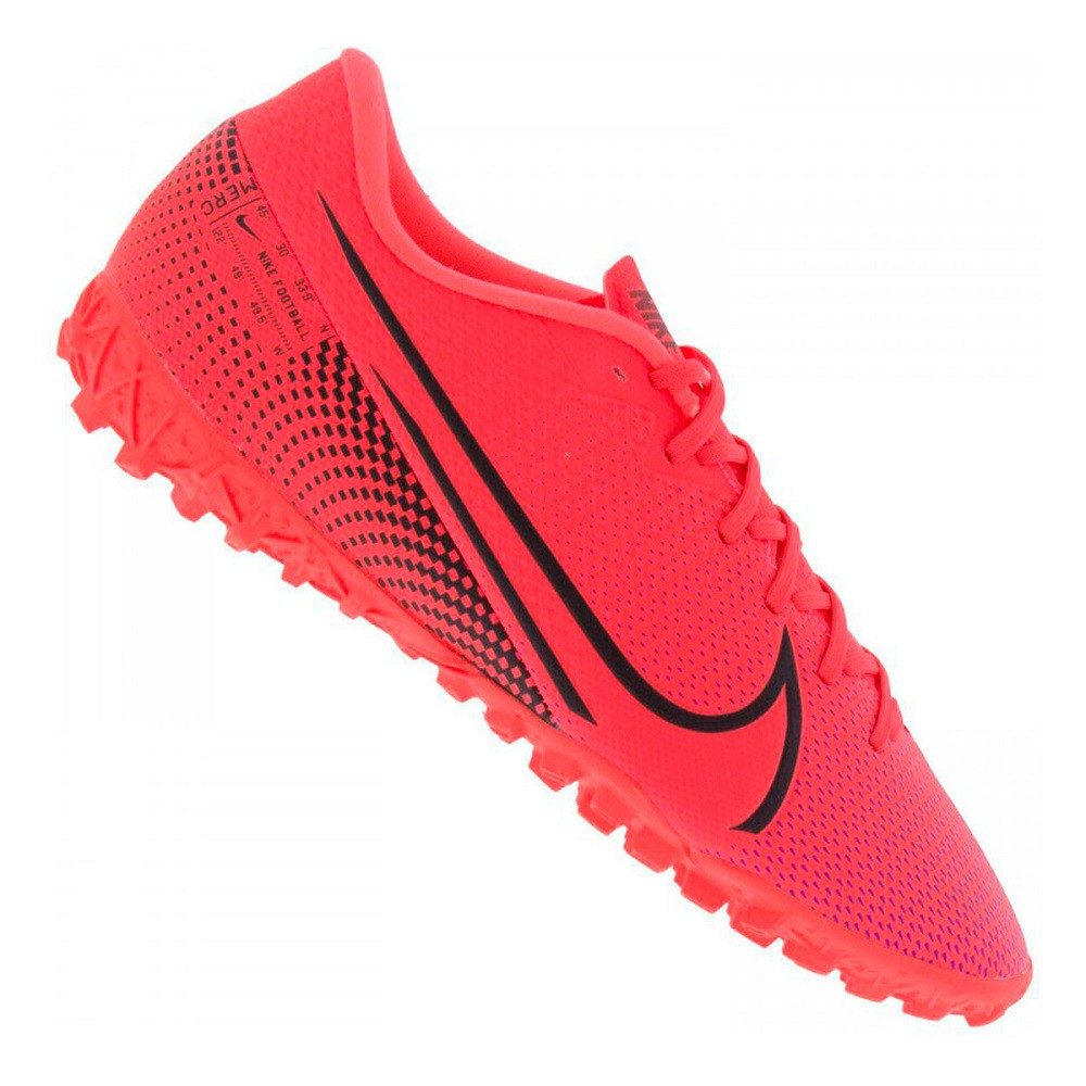 Chuteira Society Nike Mercurial Vapor 13 Academy Masculino Rosa Neon
