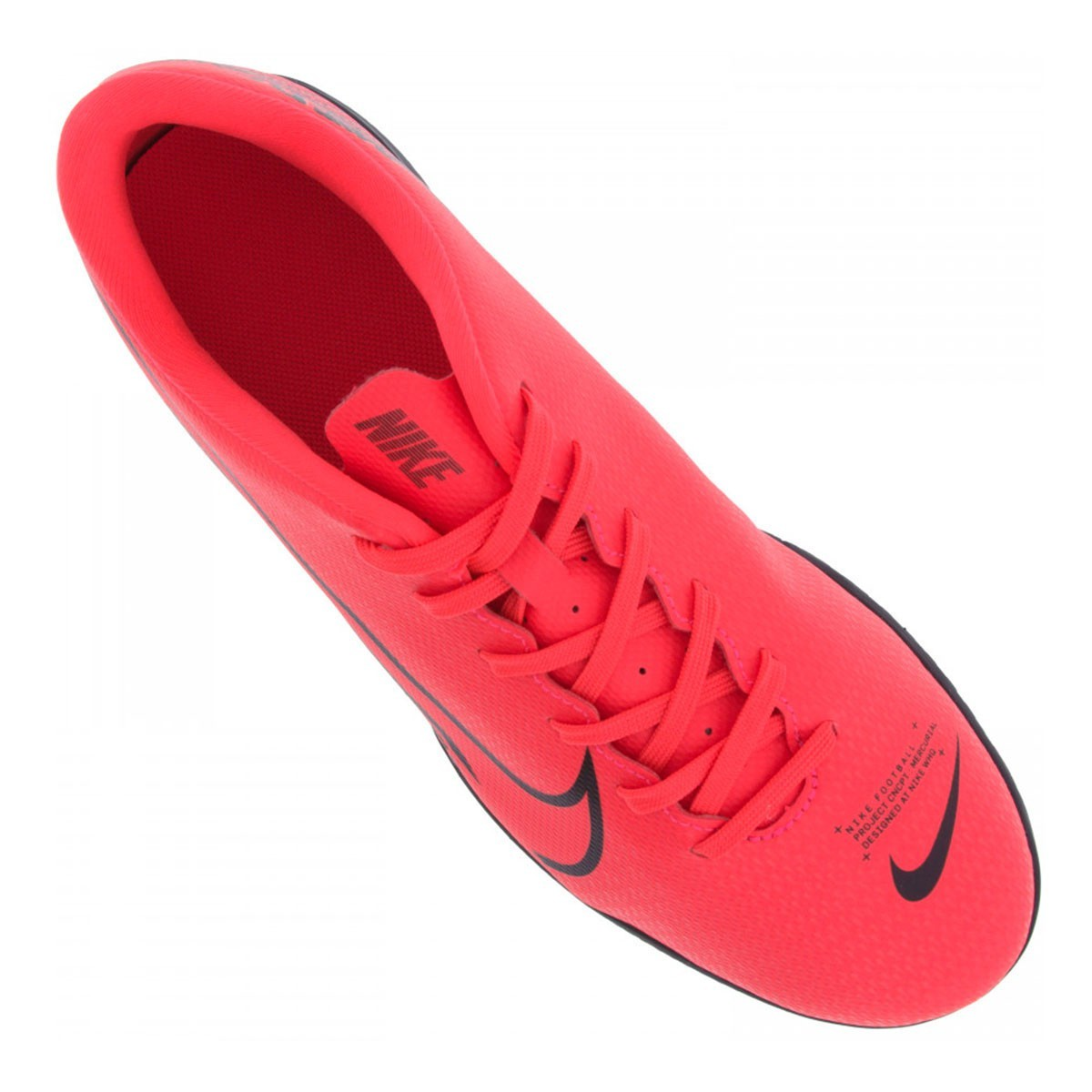 Chuteira Futsal Nike Mercurial Vapor 13 Club IC Vermelho e Preto