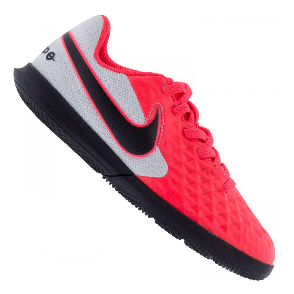 Chuteira Futsal Nike Tiempo Legend 8 Club Infantil - Vermelho