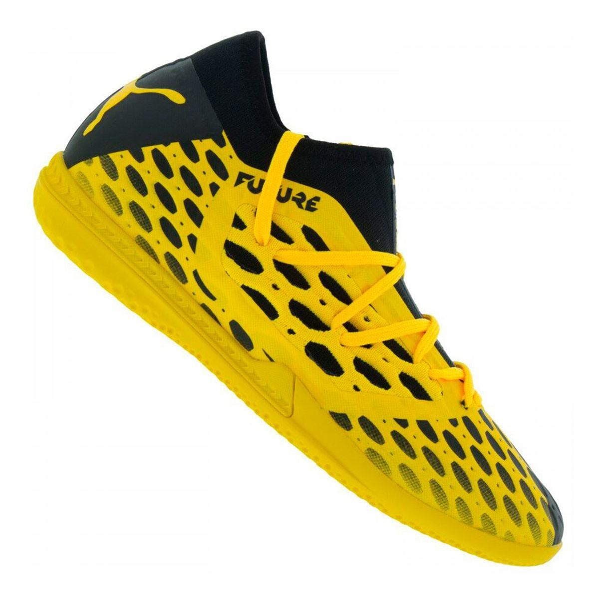 Chuteira Futsal Puma Future 5.3 Netfit BDP Amarelo