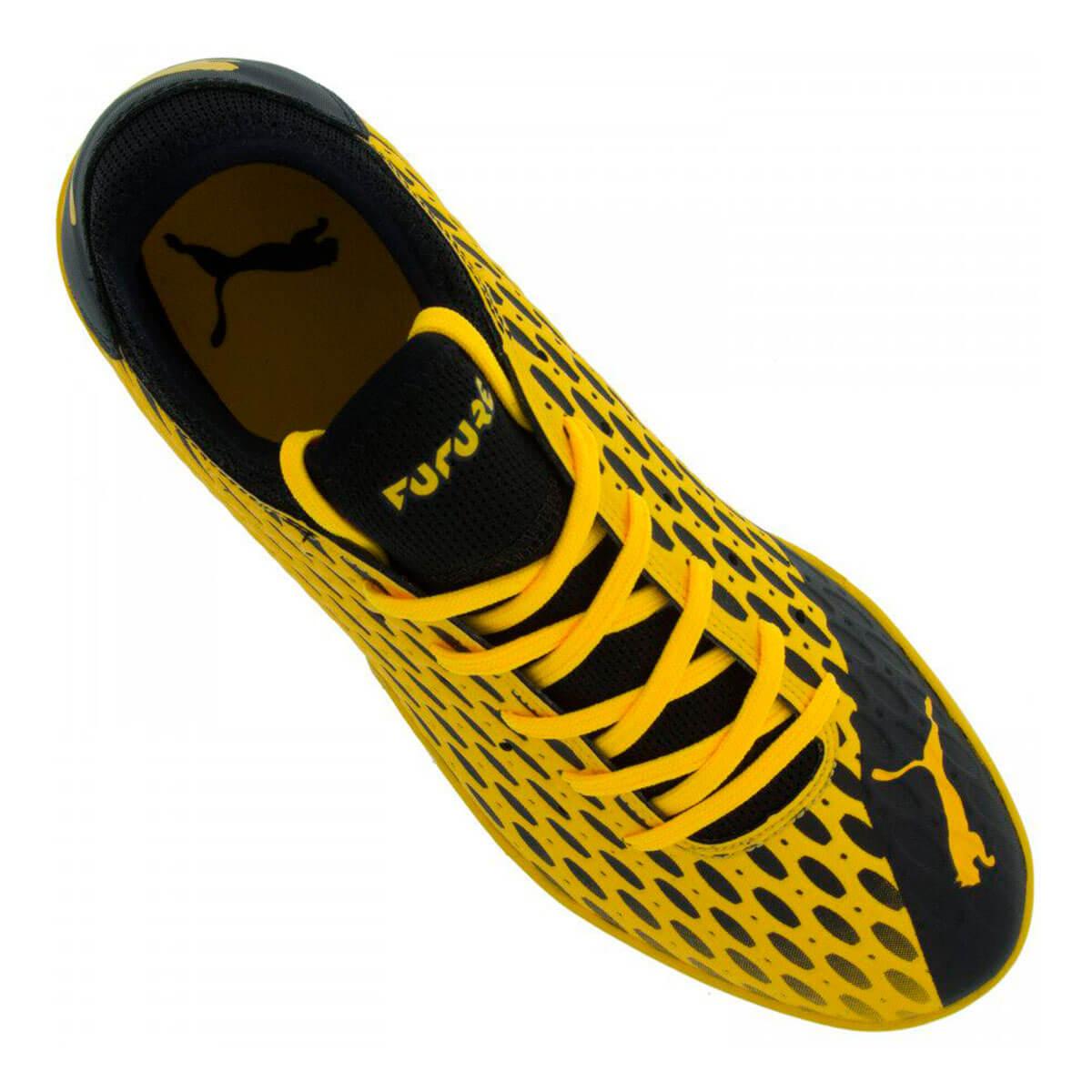 Chuteira Futsal Puma Future 5.4 BDP Amarelo