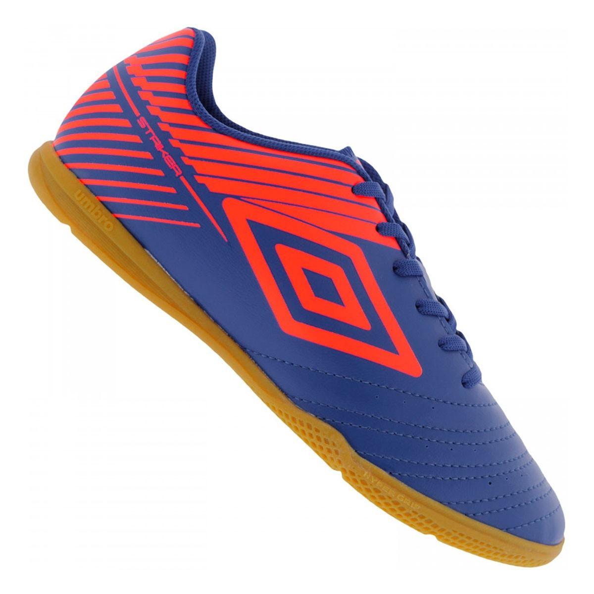 Chuteira Futsal Umbro Striker V Azul Neon