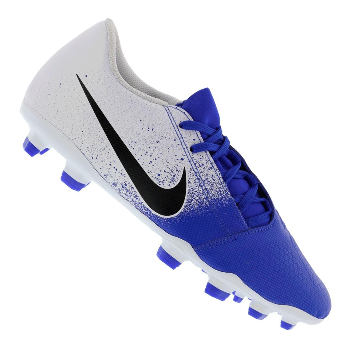 Chuteira Nike Campo Phantom Academy Club Azul