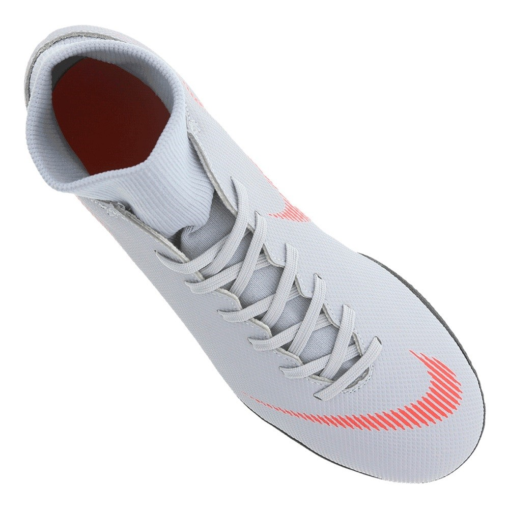 Chuteira Nike Futsal Mercur Superflyx 6 Club Cinza