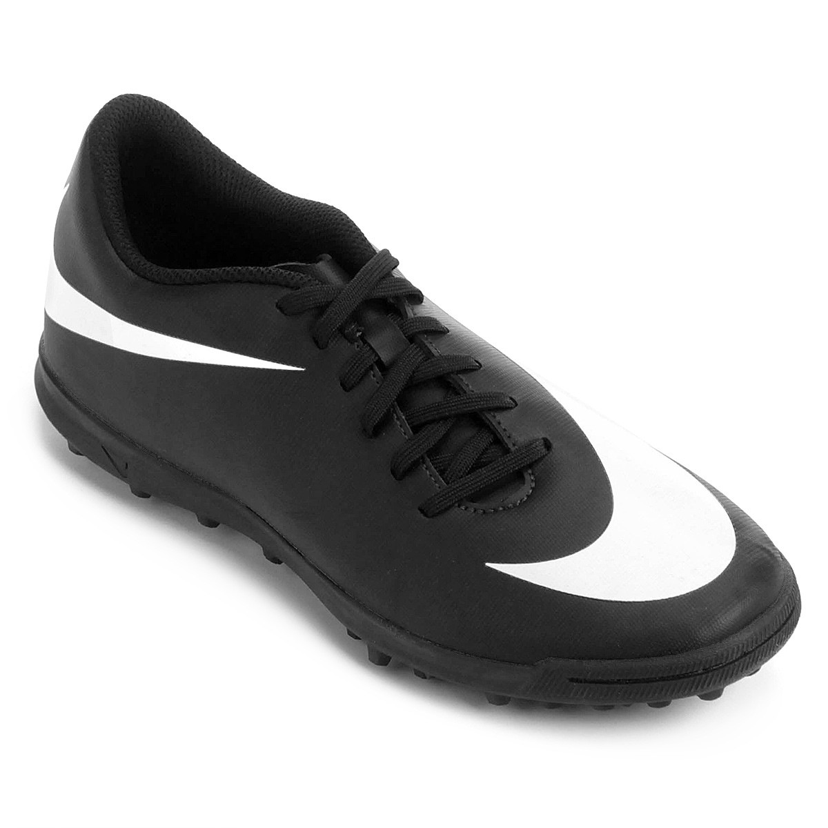 Chuteira Society Nike Bravata 2 TF - Preto e Branco