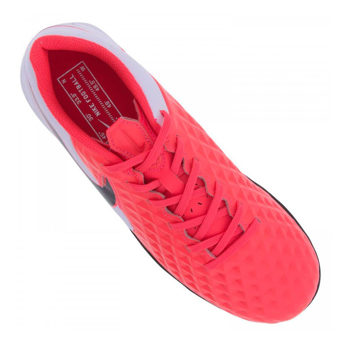 Chuteira Society Nike Tiempo Legend 8 Academy TF - Vermelho e Preto