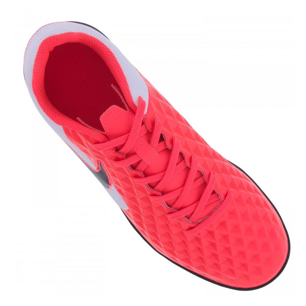 Chuteira Society Nike Tiempo Legend 8 Club Vermelho e Preto