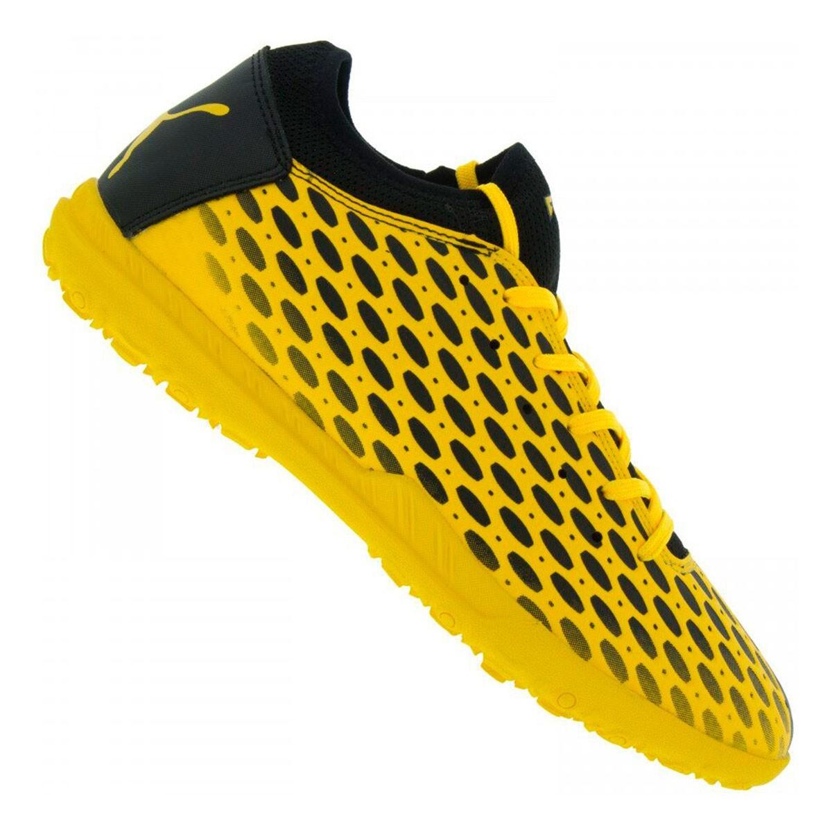 Chuteira Society Puma Future 5.4 TT BDP - Amarelo e Preto