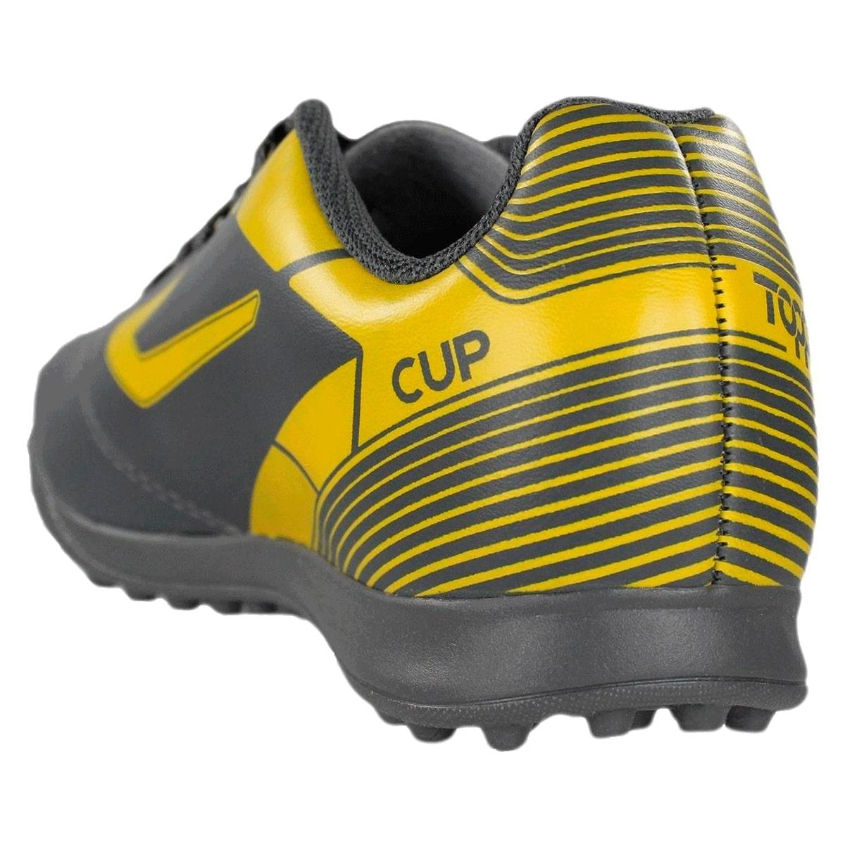 Chuteira Topper Society Cup II Cinza Amarelo