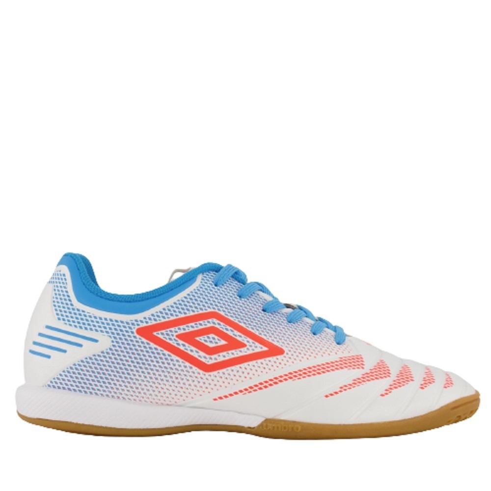 Chuteira Umbro Tocco Club Futsal Branca Azul