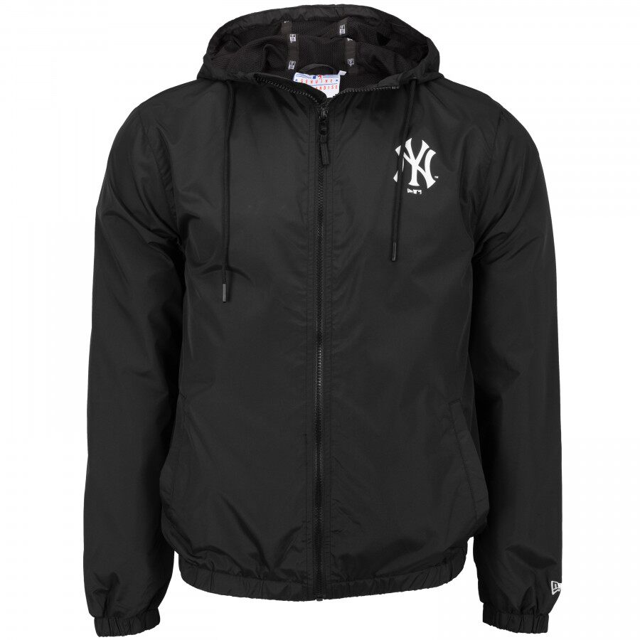 Jaqueta Corta-Vento MLB New York Yankees Basic Sazonal Quad Masculina Preta New Era