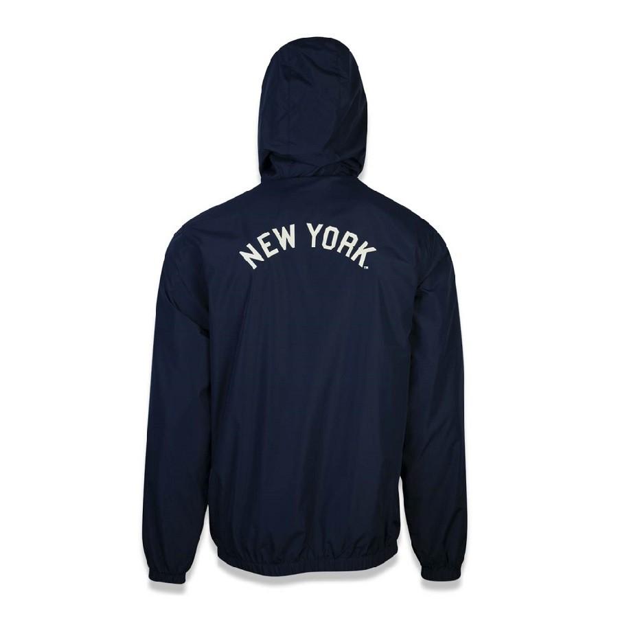 Jaqueta Corta Vento MLB New York Yankees Masculina Marinho Bege New Era
