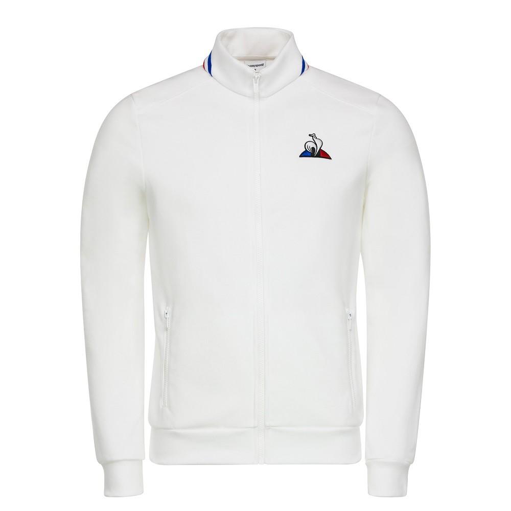 Jaqueta Moletom Le Coq Sportif Tricolore Masculina Branco