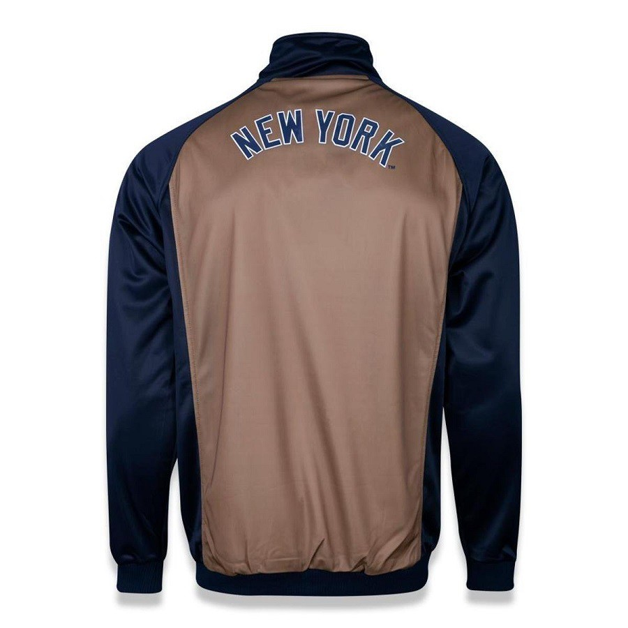 Jaqueta  Track New York Yankees Mlb Masculina Marinho Kaki New Era