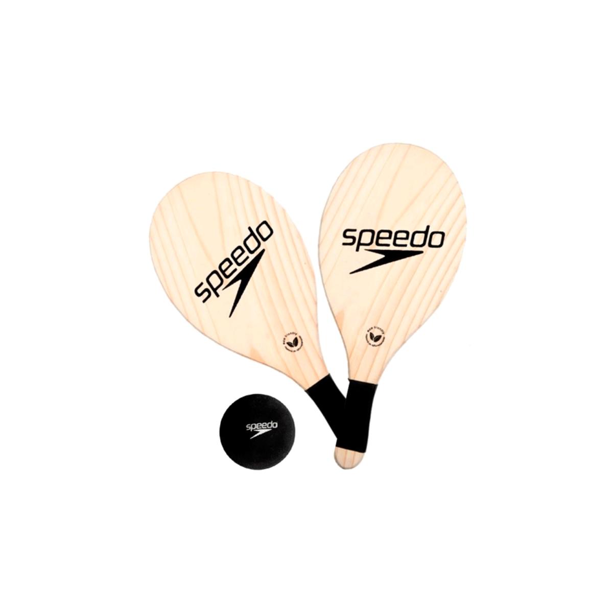 Kit Frescobol Speedo 2 Raquetes e Bola Preto