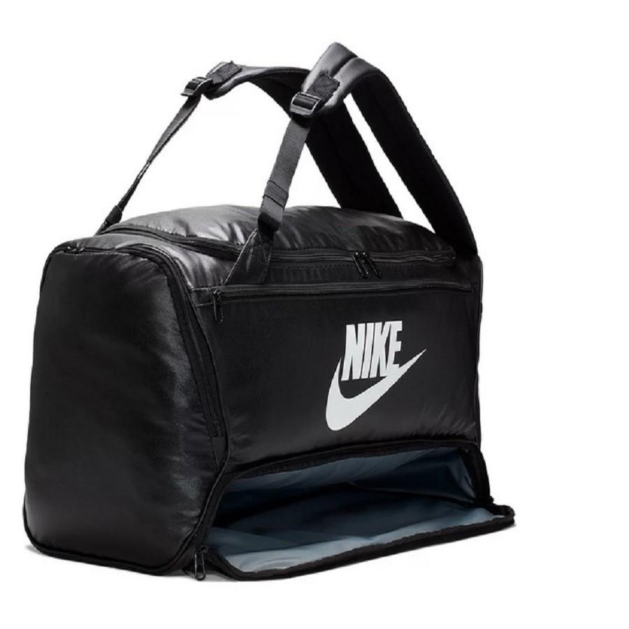 Mala Nike Brasilia Duff  60 Litros - Preto e Branco