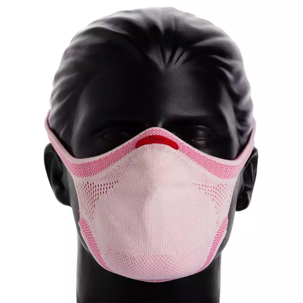 Máscara de Proteção Esportiva Fiber Knit E96 Corridaria Rosa