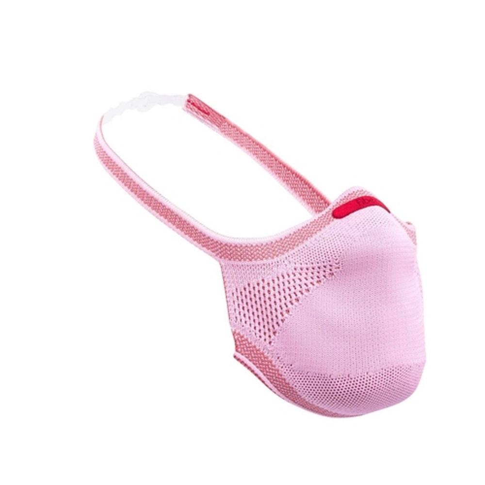 Máscara de Proteção Reutilizável Fiber Knit Infantil Rosa