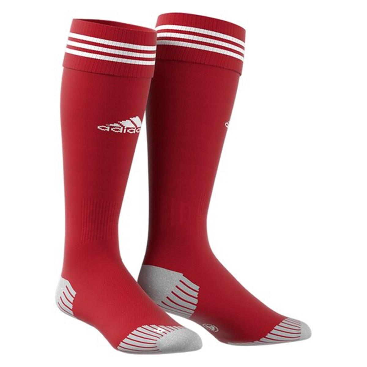 Meião Adidas Aditop 3 Listras - Vermelho - Masculino