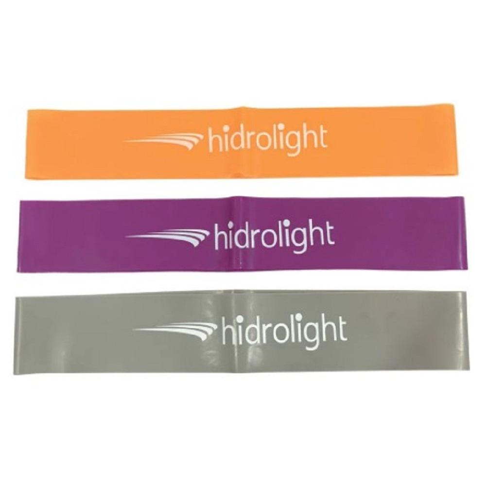 Mini Band Hidrolight Kit com 3 Loop Bands P/ Exercícios