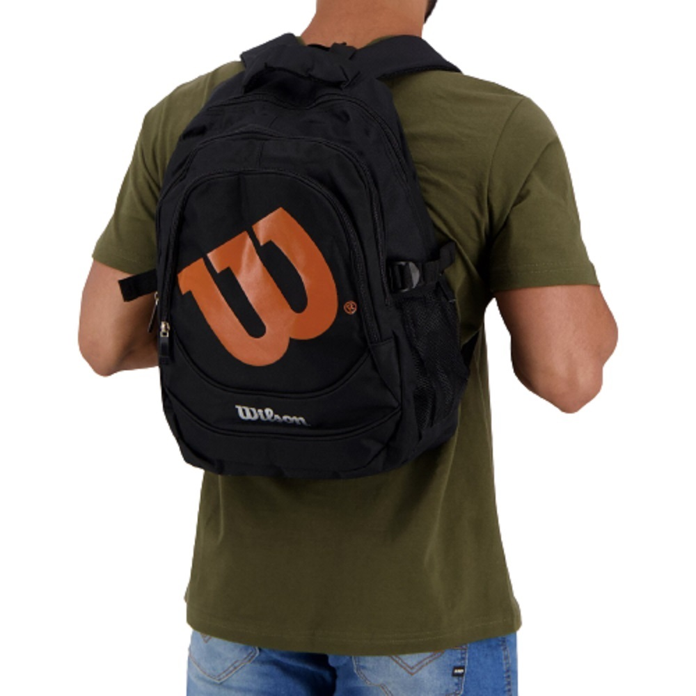 Mochila Wilson Authentic Bag Preto Laranja