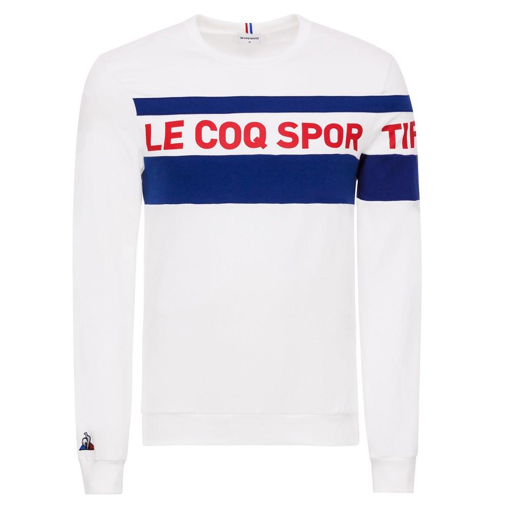 Moletom Le Coq Sportif Essentiels Masculino Branco Azul