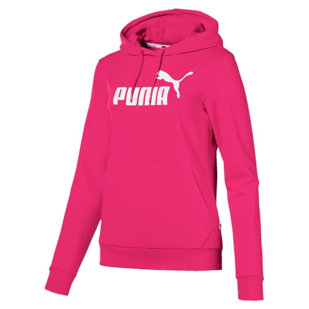 Moletom Puma Essentials Logo Hoody Feminino Rosa